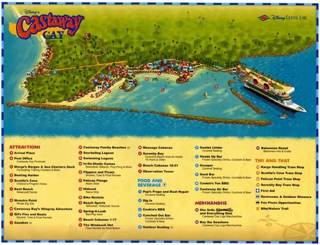 Map of Disney's Castaway Cay