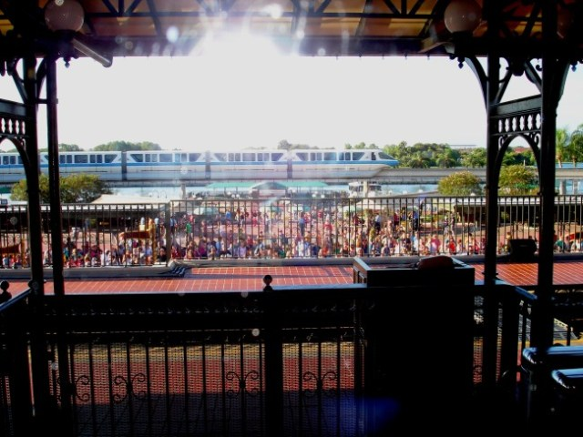 Early crowds waiting for the Magic Kingdom Welcome show