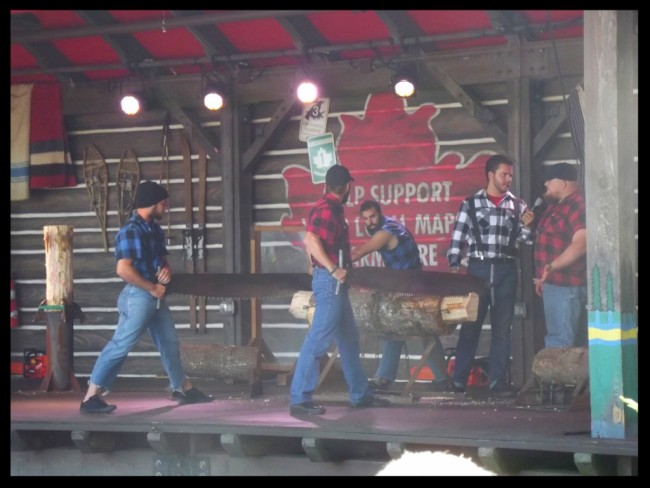 Lumberjack show in Canada at Epcot-Picture by Lisa McBride