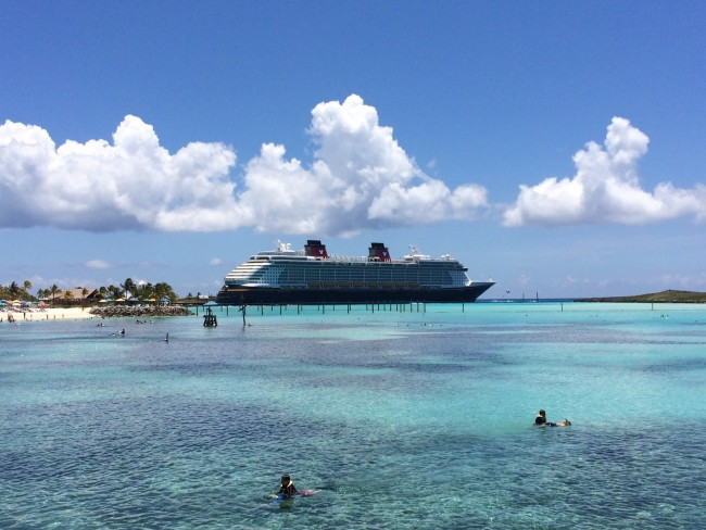 The Disney Fantasy in Castaway Cay