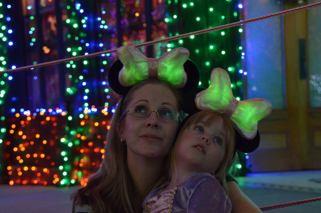 Glow with show ears at THe Osborne Family Spectacle of Lights