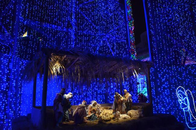 Nativity scene in The Osborne Family Spectacle of Lights