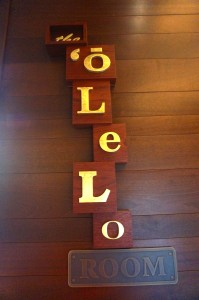 The Olelo Room sign