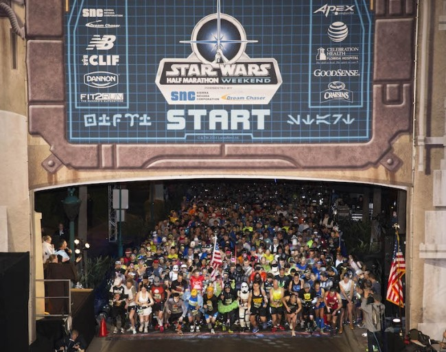 Star Wars Half Marathon at Disneyland, Photo courtesy of Disney.