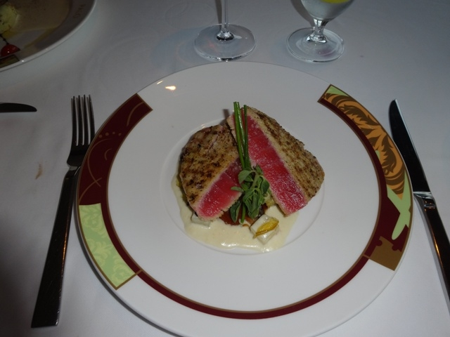 Rare tuna entree at Palo on the Disney Fantasy2