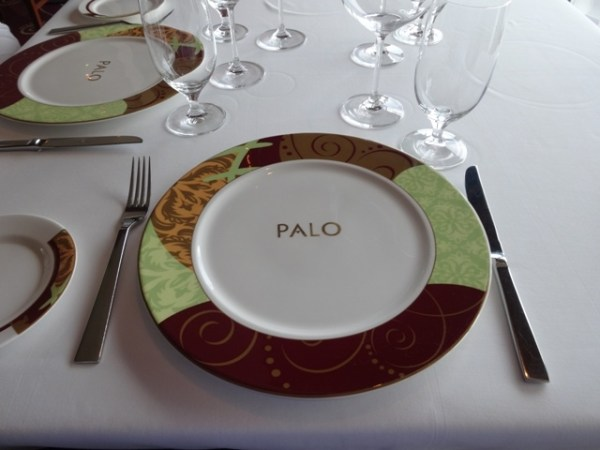 plate at Palo on Disney Fantasy2