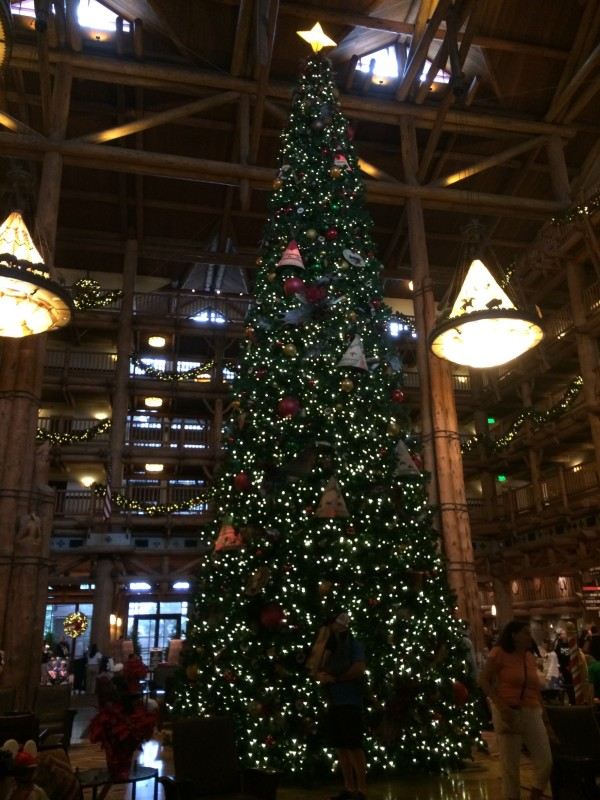 Disney's Wilderness Lodge Christmas tree