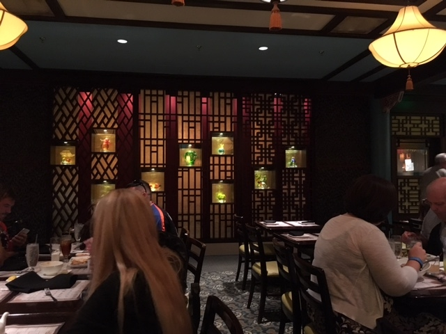 Décor at Nine Dragons Restaurant in the China Pavilion at Epcot