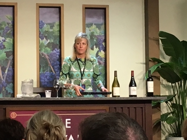 Tina from Purple Wine and Spirits at the Epcot Food and Wine Festival 2015