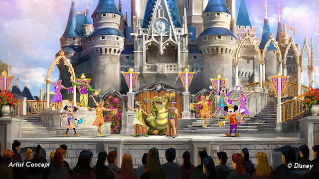 Artist concept of Mickey's Royal Friendship Faire, Courtesy of Disney