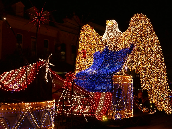 The last float in the Main Street Electrical Parade