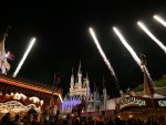 Wishes nighttime spectacular from behind Cinderella Castle.