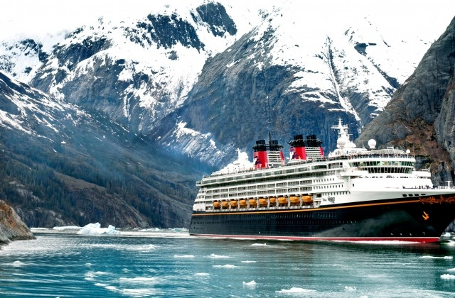 The Disney Wonder in Alaksa (courtesy DCL)