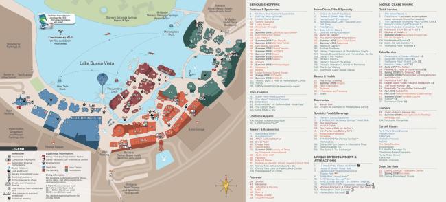 Disney Springs Map 2
