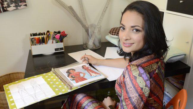 Fashion designer Layana Aguilar. (Disney Channel/Lorenzo Bevilaqua)
