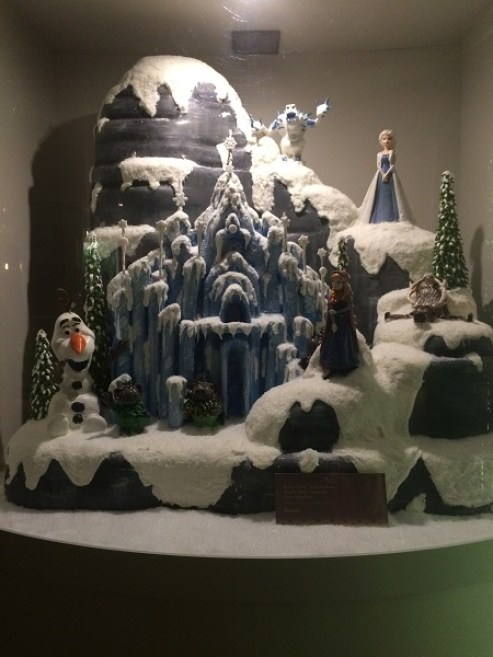 North Mountain from 'Frozen' crafted out of chocolate