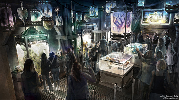 Artist Rendering of Guardians of the Galaxy: Mission BREAKOUT (Disney Parks Blog)