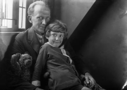 A.A. Milne & Christopher Robin