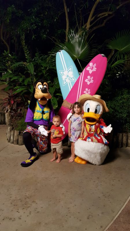 Donald and Goofy at the DVC Neighborhood Beach Bash