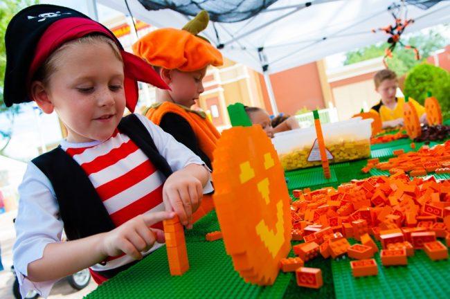 Pumpkin building at LEGOLAND Brick or Treat (Courtesy of LEGOLAND)