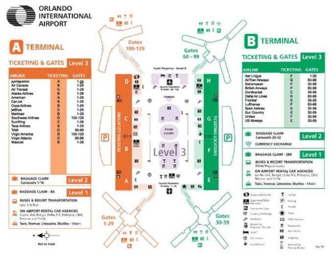 Orlando International Airport Transportation Map