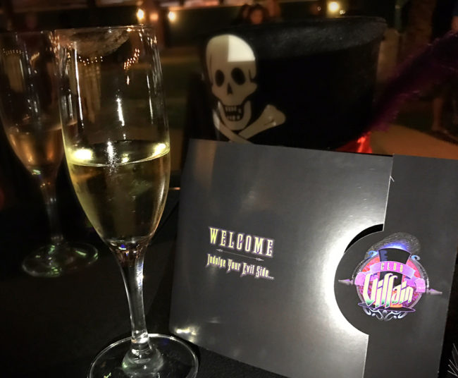 Club Villain: Invite and Champagne