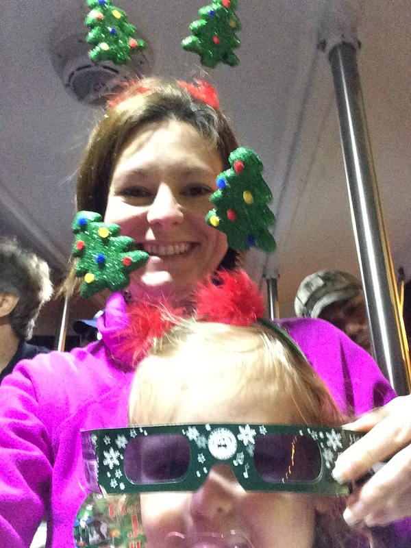 Riding the Holly Jolly Trolley