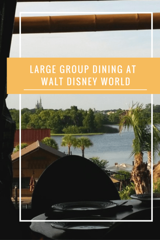 Large Group Dining at Walt Disney World