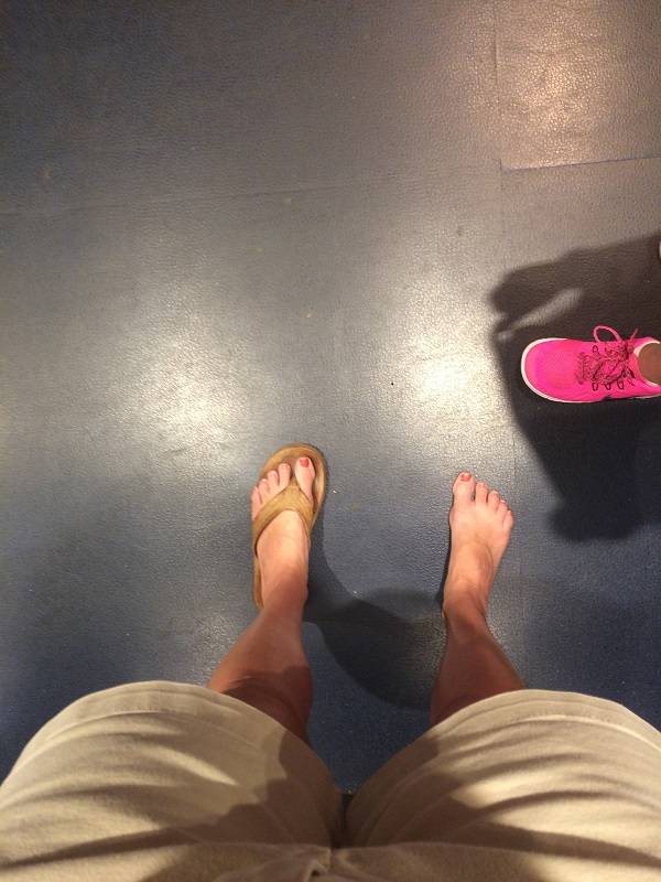 I lost my flip flop underneath Test Track