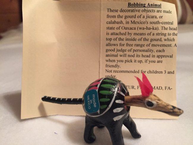 Bobbing Animal from Mexico Pavilion-Photo Credit Lisa McBride