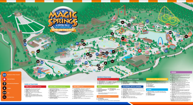 Magic Springs & Crystal Falls map