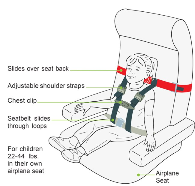 Safety first! A CARES harness diagram from http://kidsflysafe.com/wp-content/uploads/CARES-Harness-diagram.pdf