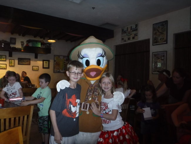 Daisy Duck at Tusker House Restaurant Disney