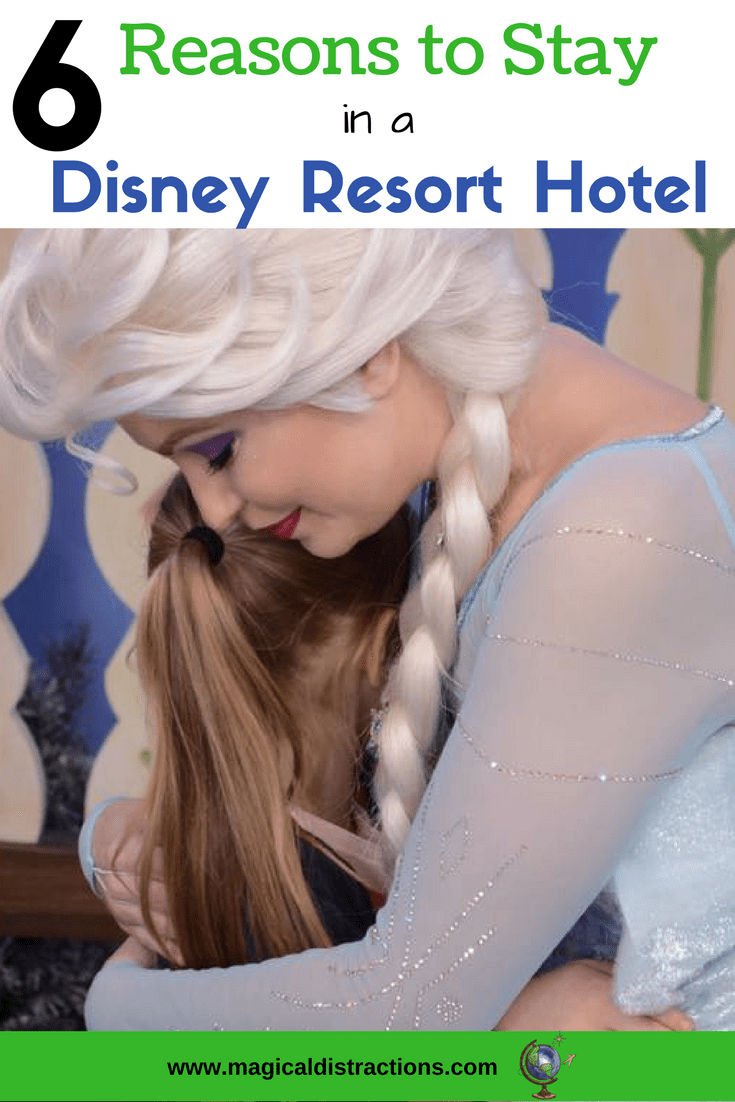 6 reasons why staying on-site in Disney Resort Hotel adds magic to your vacation.
