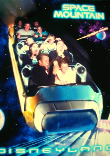 Engaged on Space Mountain