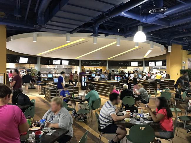 Food Court at the All-Star Music, a Walt Disney World Value Resort. Photo credit: Rachel Horsley