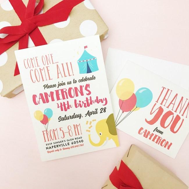 Customized Celebration Invitations from Basic Invite