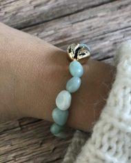 bracelet-pierre-naturelle-amazonite-grain-de-riz-cauri-dore-5