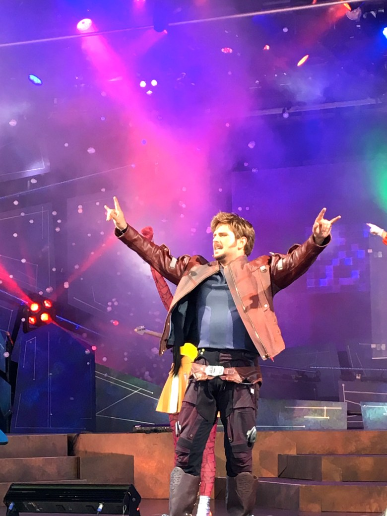 Peter Quill, Epcot, Guardians of the Galaxy Awesome Live Mix Show