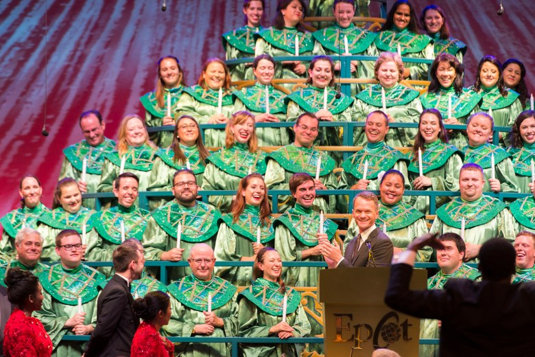 Photo of Neil Patrick Harris at the Candlelight Processional at Epcot