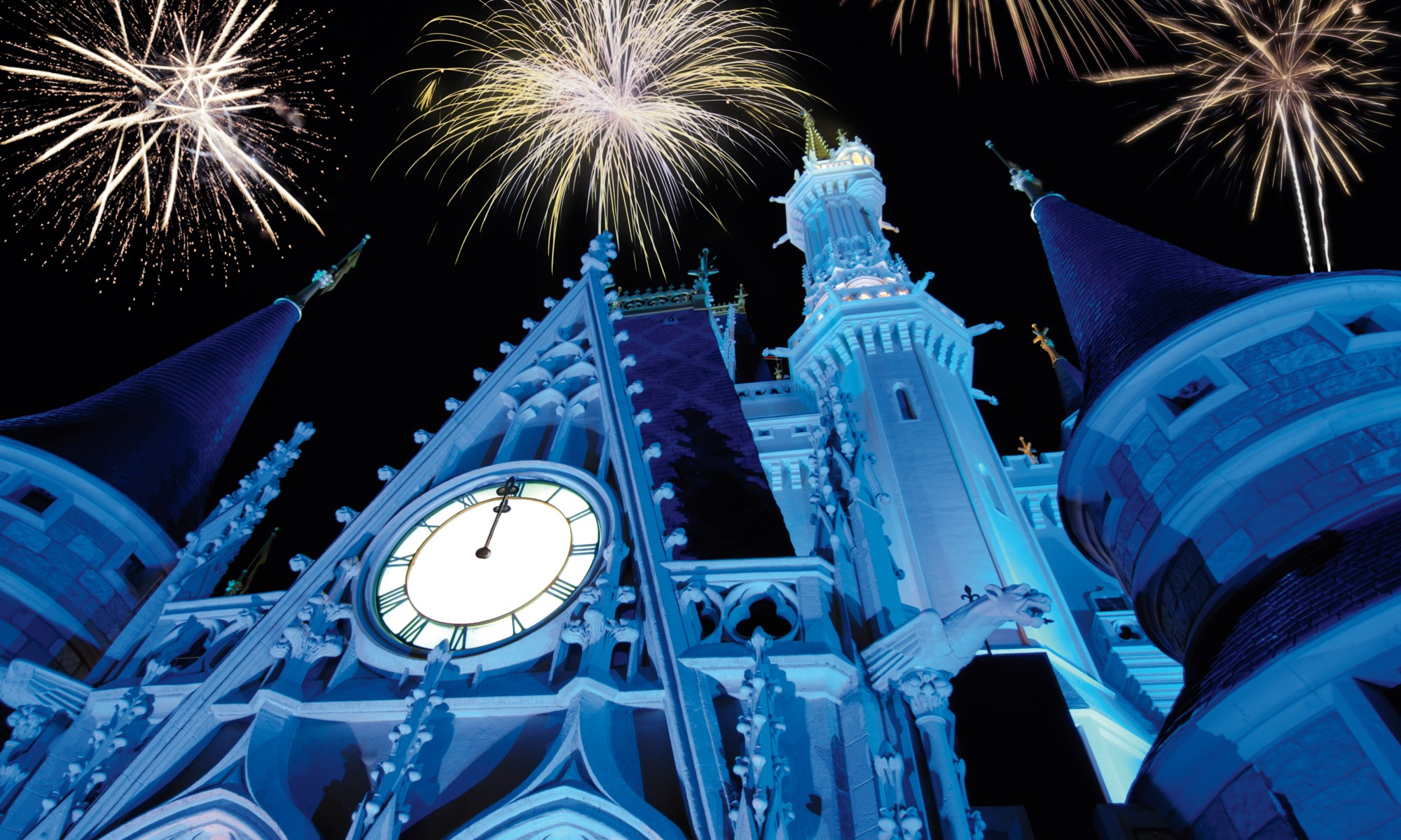 Photo of Cinderella Castle on New Year's Eve