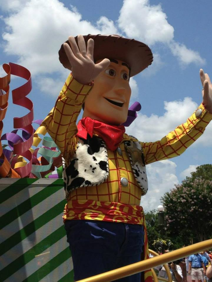 Photo of Toy Story's Woody in the Move It! Shake It! Dance It! Street Party