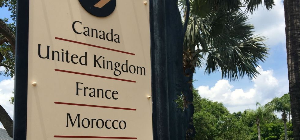 Photo of Epcot's World Showcase sign