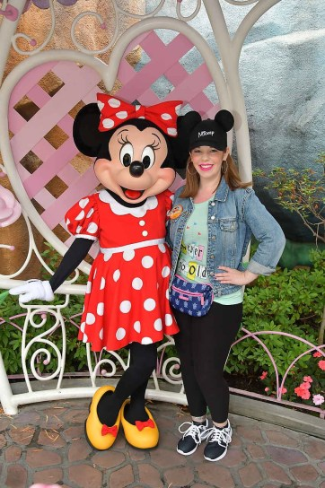 Photo of Minnie Mouse in ToonTown at Disneyland Park