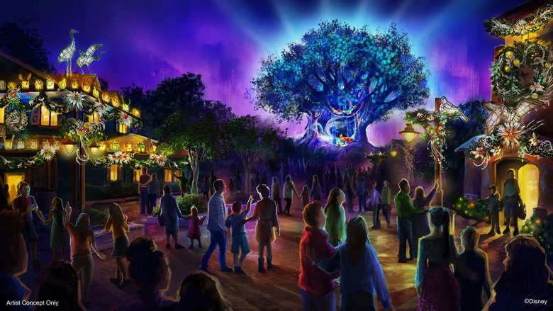 Photo of the concept art for Animal Kingdom's 2019 holiday celebration