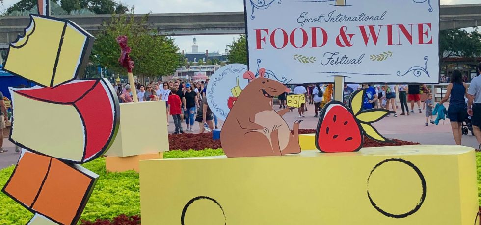 Photo of the 2019 Epcot Food & Wine Festival sign