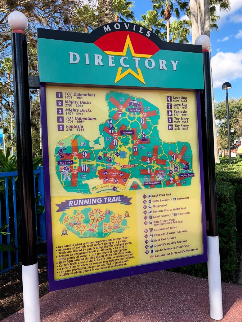 Photo of the All-Star Movies directory at Walt Disney World