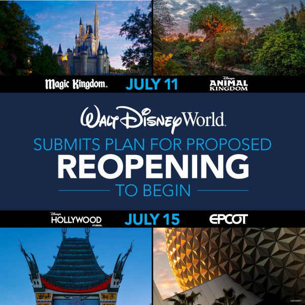 Photo of Walt Disney World's July reopening dates