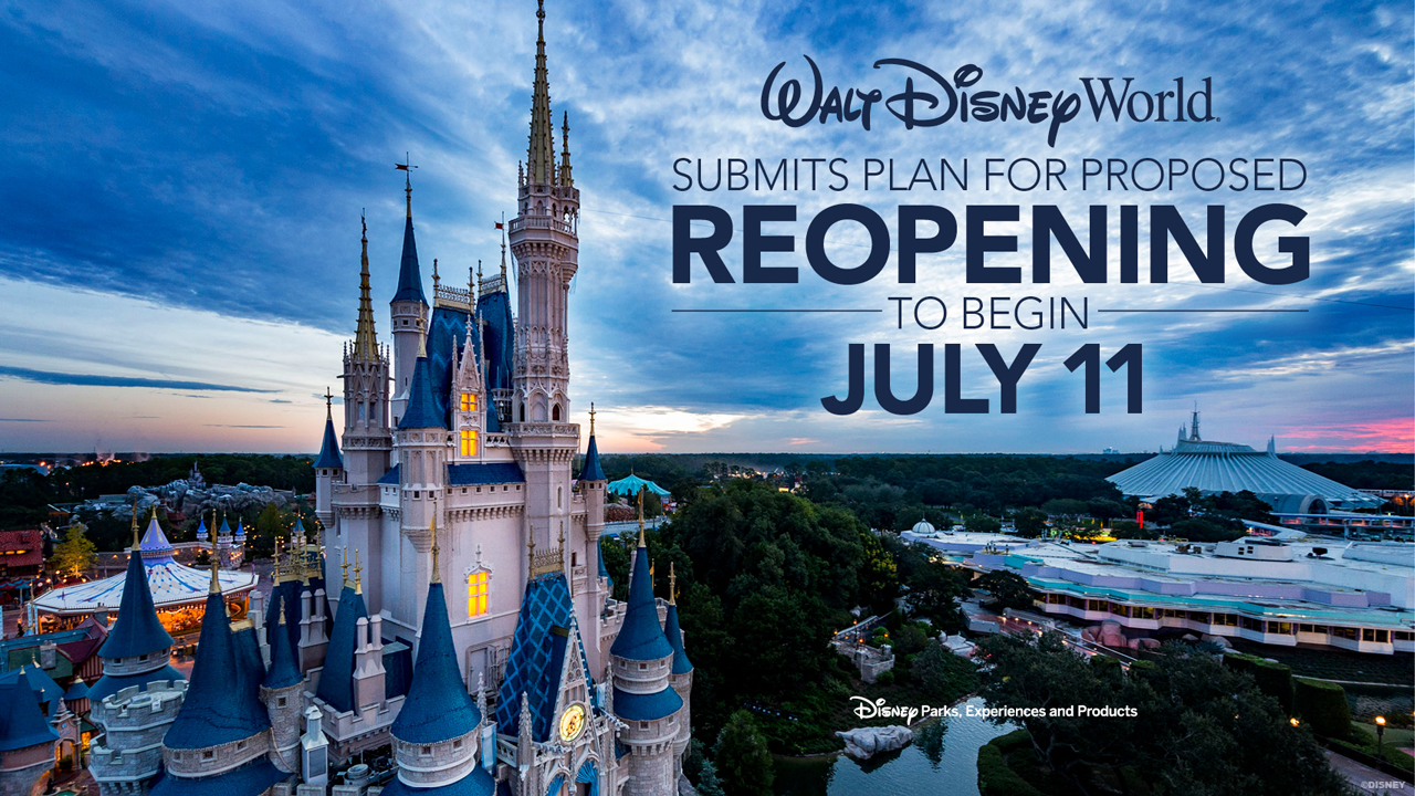 Photo of Walt Disney World's July 11 reopening date