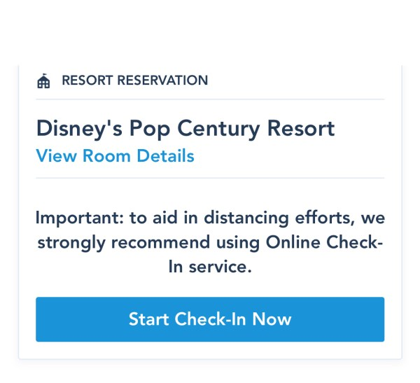 Photo of My Disney Experience Online Check-In